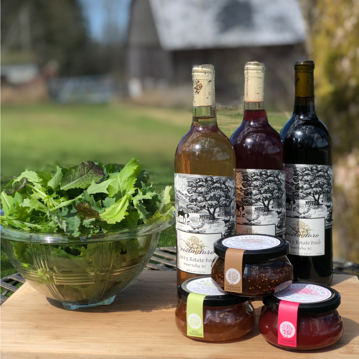 Wine Preserves Produce Vista D'oro Farms & Winery Langley British Columbia Canada