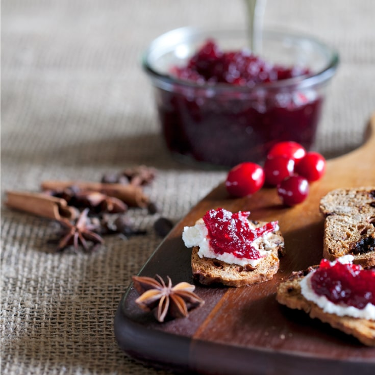 Spiced Cranberry Preserve by the Preservatory at Vista D'oro Farms & Winery Langley British Columbia Canada