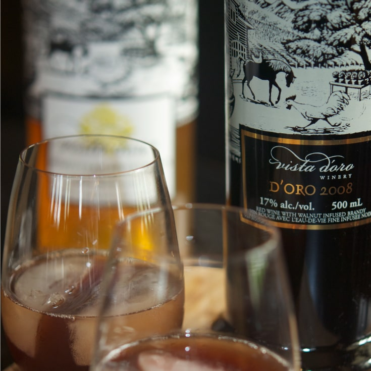 2008 D'oro Fortified Wine at Vista D'oro Farms & Winery Langley British Columbia Canada